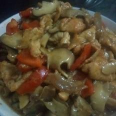 香菇红椒烩肉片
