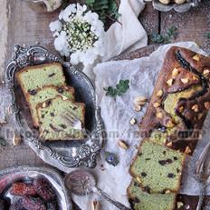 椰枣开心果抹茶磅蛋糕