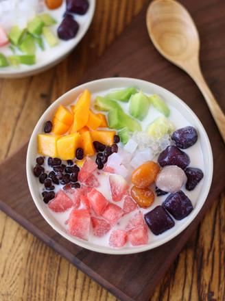 芋圆水果捞的做法