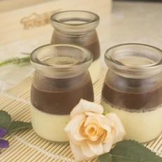 婴儿肝泥怎么做好吃双色可可布丁的做法