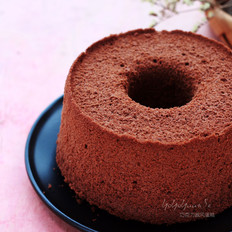 巧克力戚风蛋糕(6寸中空蛋糕)的做法