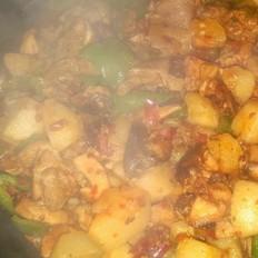 土豆香菇燒雞塊