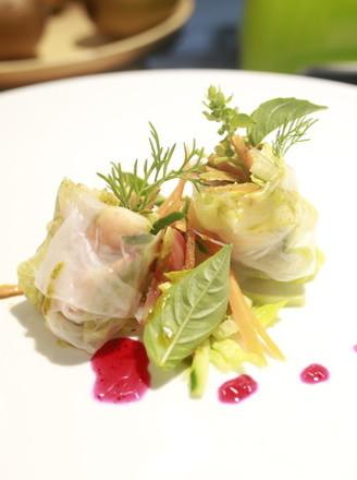 夏日越南明虾沙拉卷的做法