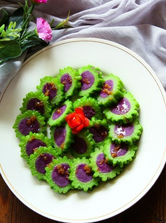 冰镇凉瓜酿紫薯的做法