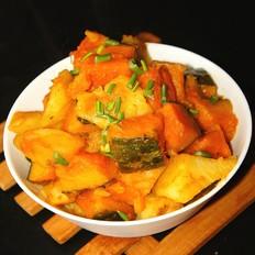 南瓜炖土豆