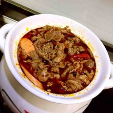 牛肉粉丝砂锅煲