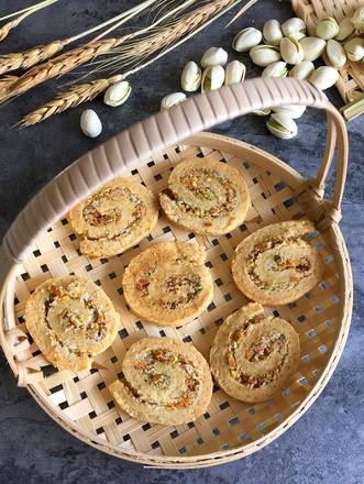 开心果年轮饼干卷的做法