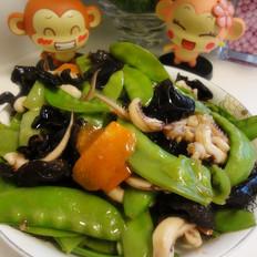 時蔬炒魷魚