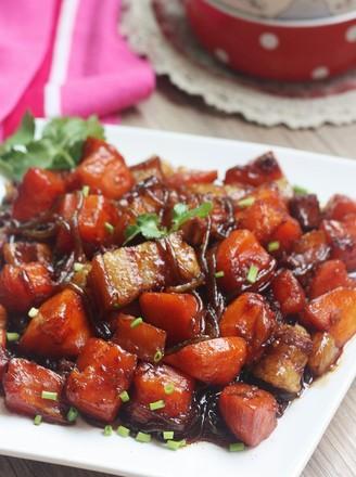 木瓜红烧肉的做法