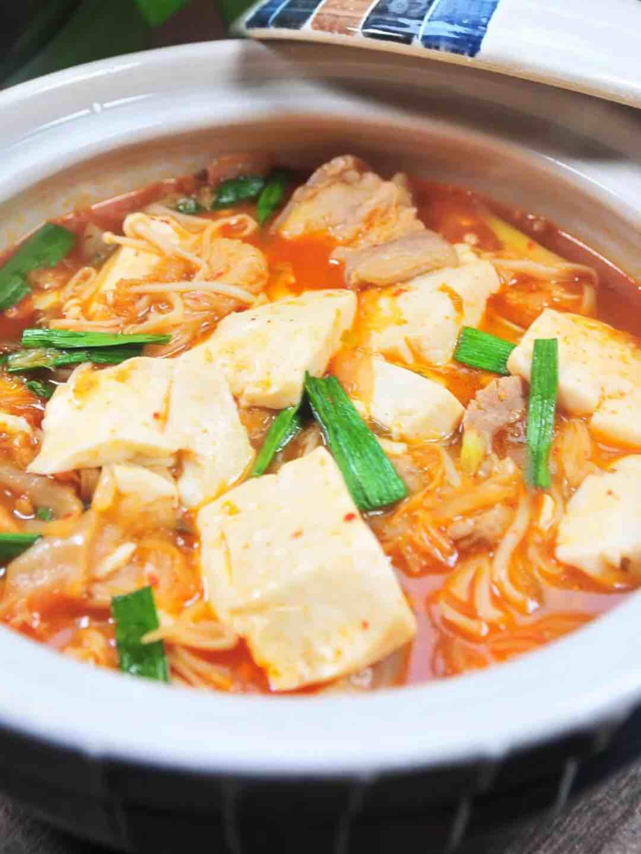 辣白菜豆腐鍋
