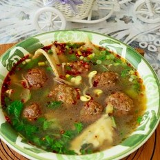 綠豆面丸子湯