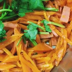 胡萝卜炒火腿