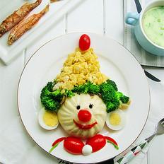 小丑趣味早餐