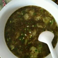 丝瓜雪菜汤