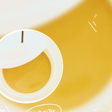 椰香红豆拉茶