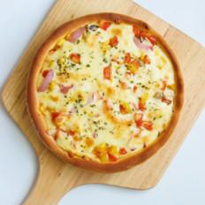 鸡肉蔬菜披萨