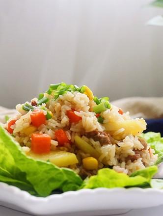 猪肉粒蔬菜焖饭的做法