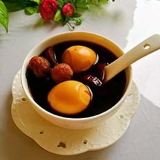紅棗桂圓煮雞蛋甜湯