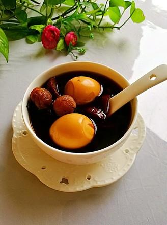 红枣桂圆煮鸡蛋甜汤