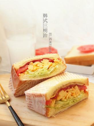 韩式三明治的做法