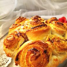 鳝干怎么做好吃花束椰蓉面包卷的做法