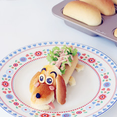 卡通热狗面包