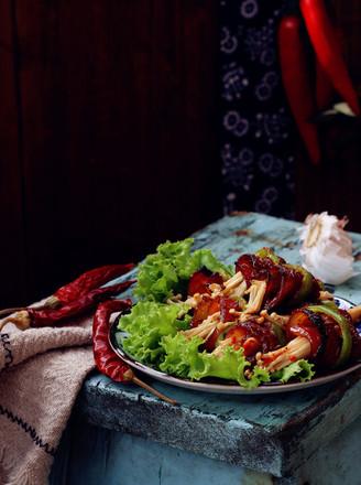 烤肉蔬菜卷的做法