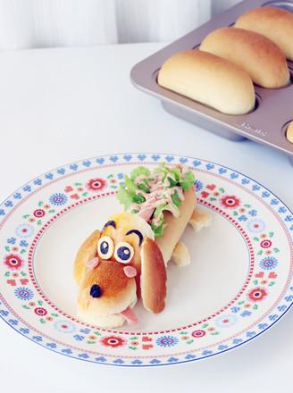 卡通热狗面包的做法