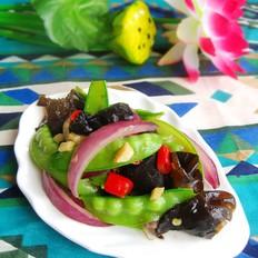 蔥香木耳荷蘭豆