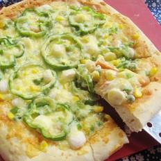 鱼丸杂蔬披萨