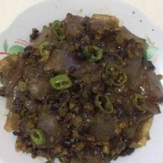 豆豉咸菜炒粉皮
