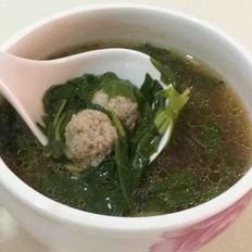 空心菜茄汁肉丸汤