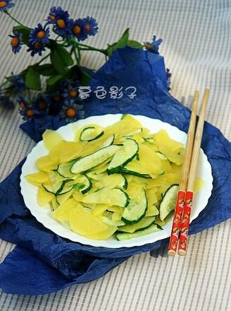 炒黄瓜土豆片的做法