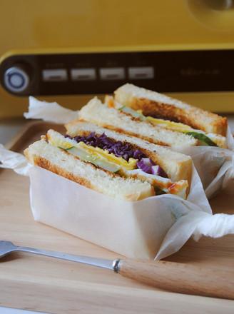 美味早餐三明治的做法