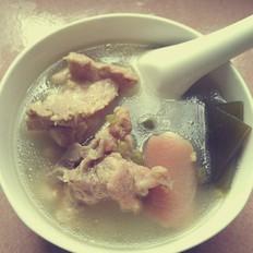 海带绿豆猪尾汤的做法