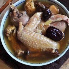 菌菇母鸡汤