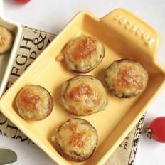 肉末乳酪焗香菇