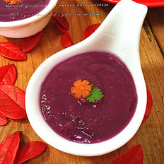 咸鲜紫薯米糊