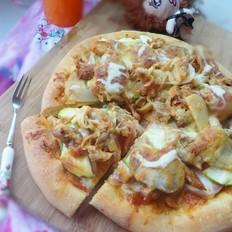 西葫芦鸡肉披萨