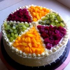 大骨棒怎么做水果奶油蛋糕的做法