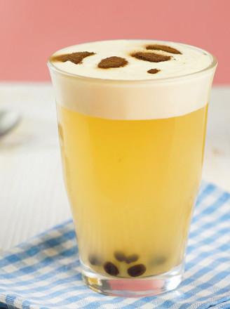DIY熊猫珍珠奶盖茶的做法
