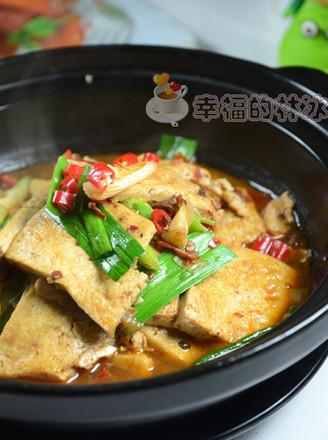 青蒜豆腐煲的做法