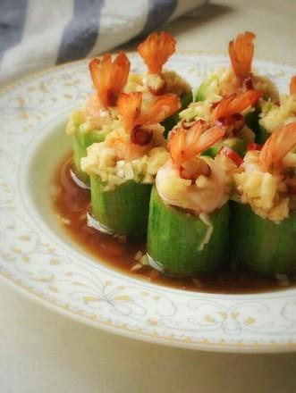 丝瓜蒸虾盅的做法