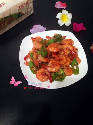 青椒炒基围虾的做法