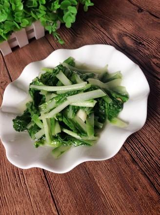 炒大白菜秧的做法