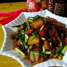 土豆蒜薹炒肉片