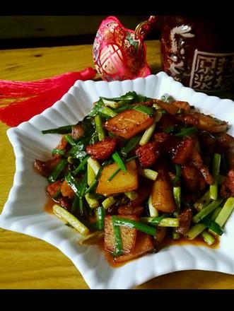 土豆蒜薹炒肉片的做法
