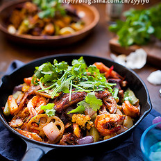 干锅排骨虾