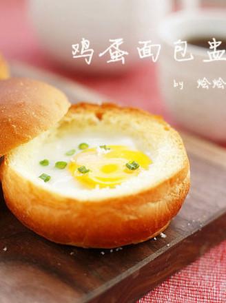 鸡蛋面包盅的做法