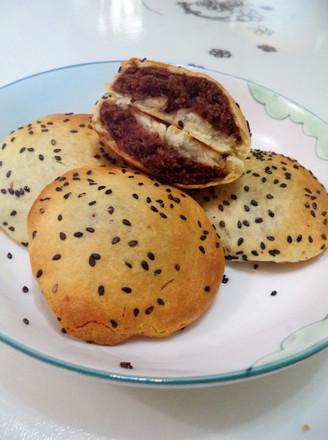烤豆沙芝麻饼的做法